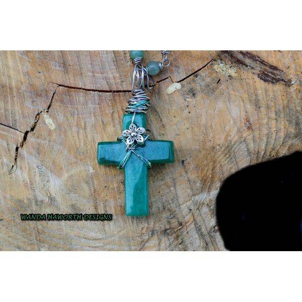 Aventurine cross