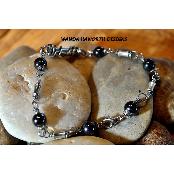 Handmade hematite bracelet