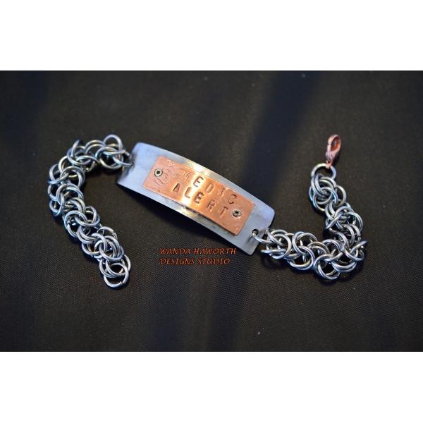 hand made medic alert bracelet