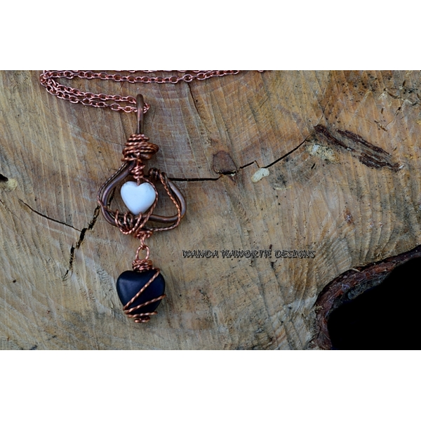 White turquoise heart pendant