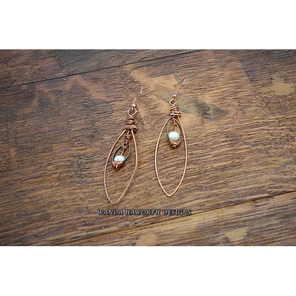Copper oval hoops