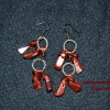Red dragon stone dangles