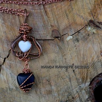 White turquoise heart pendant