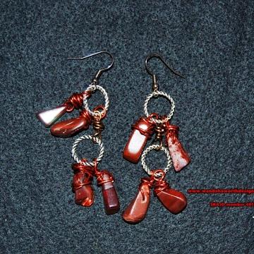 Red dragon stone dangles