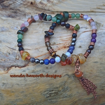 Mala Stone Bracelets , Pull On Stretch Bracelets