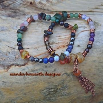 Mala Stone Bracelets , Pull On Stretch Bracelets